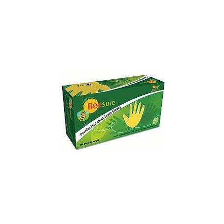 Latexové rukavice Natural (biele) 100ks S