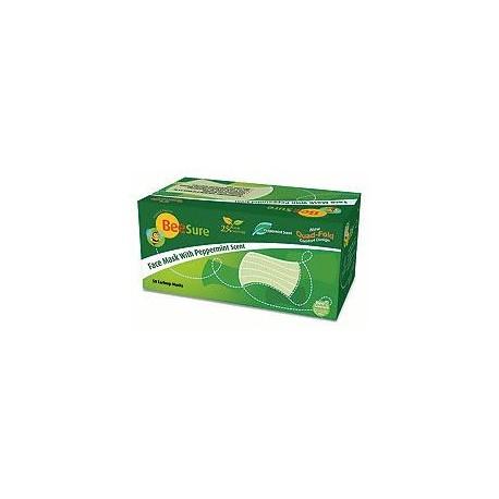 Parfumované masky mentol - zelené 50ks